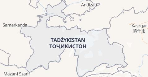 Tadżykistan - szczegółowa mapa