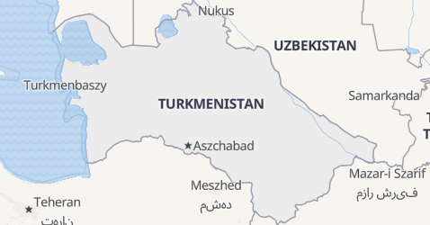Turkmenistan - szczegółowa mapa