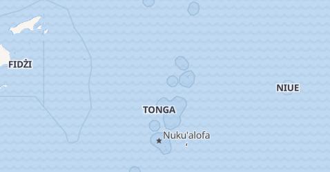 Tonga - szczegółowa mapa
