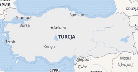 Turcja - szczegółowa mapa