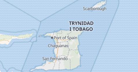 Trinidad i Tobago - szczegółowa mapa