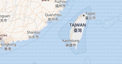 Tajwan - szczegółowa mapa