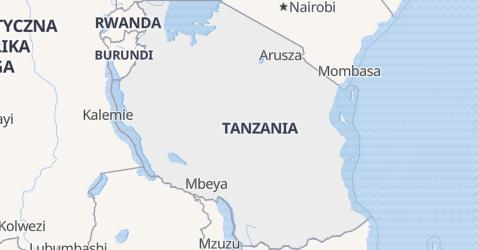 Tanzania - szczegółowa mapa