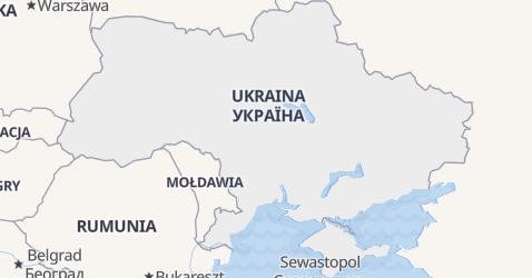 Ukraina - szczegółowa mapa