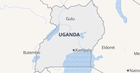Uganda - szczegółowa mapa