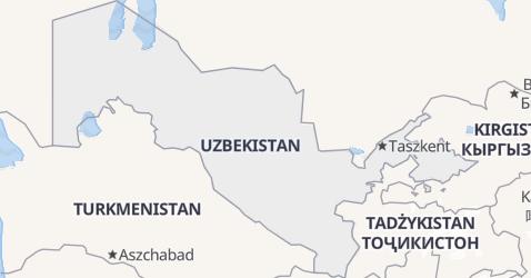 Uzbekistan - szczegółowa mapa