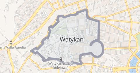 Watykan - szczegółowa mapa