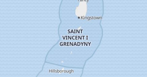 Saint Vincent i Grenadyny - szczegółowa mapa