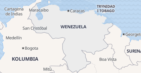 Wenezuela - szczegółowa mapa
