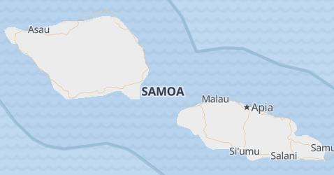Samoa - szczegółowa mapa