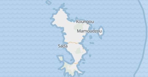 Mayotte - szczegółowa mapa