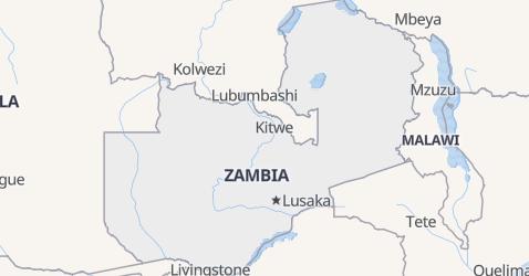 Zambia - szczegółowa mapa