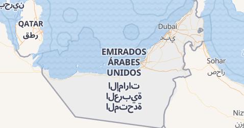 Mapa de Emirados Árabes Unidos