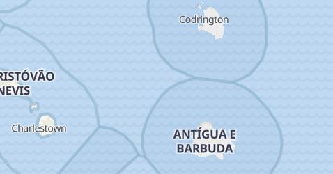 Mapa de Antígua e Barbuda