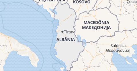 Mapa de Albânia