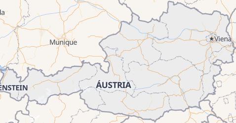 Mapa de Áustria