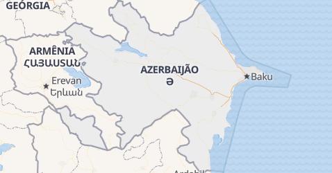 Mapa de Azerbaijão