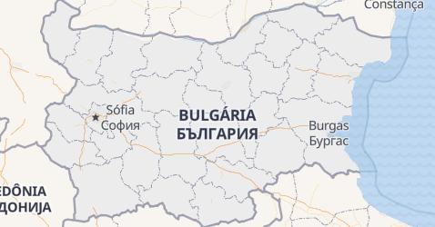 Mapa de Bulgária