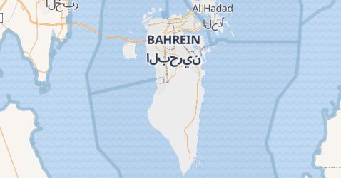 Mapa de Bahrain
