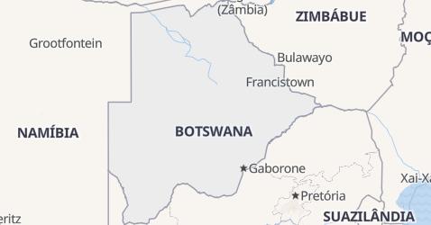 Mapa de Botsuana
