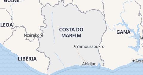 Mapa de Costa do Marfim