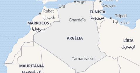 Mapa de Argélia