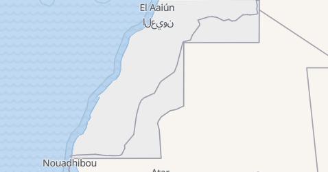 Mapa de Saara Ocidental
