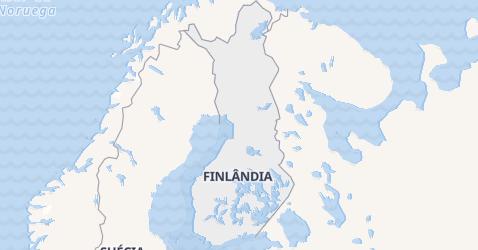 Mapa de Finlândia