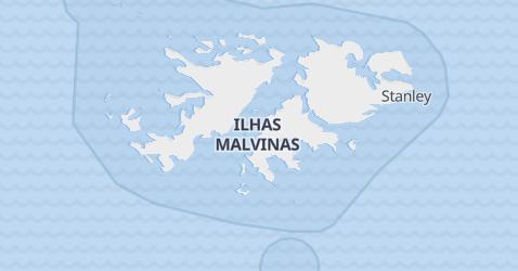 Mapa de Ilhas Malvinas