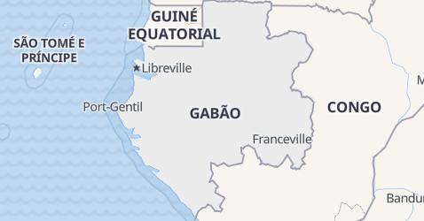 Mapa de Gabão