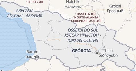 Mapa de Geórgia