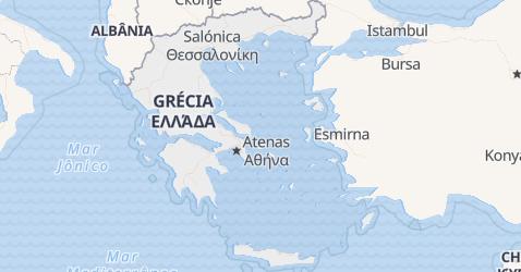 Mapa de Grécia