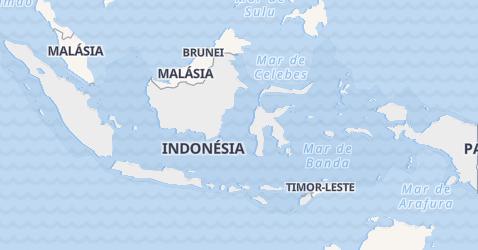 Mapa de Indonésia