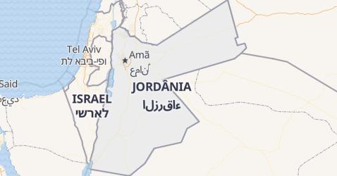 Mapa de Jordânia