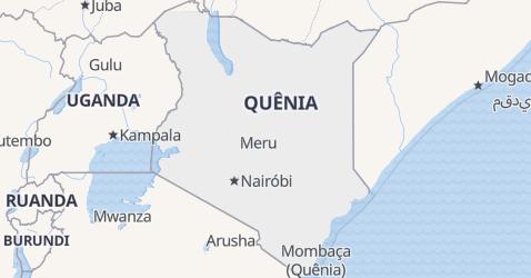 Mapa de Quênia