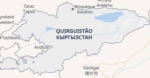 Mapa de Kyrgyzstan