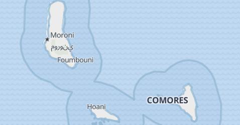 Mapa de Comoros