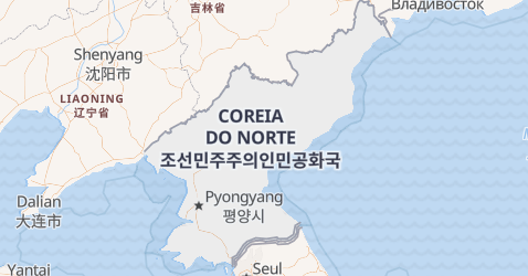 Mapa de Coréia do Norte