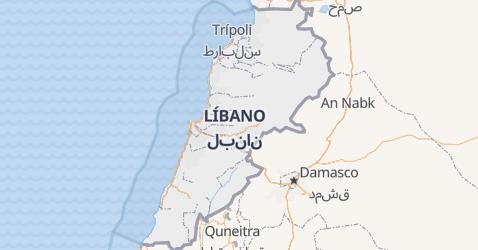 Mapa de Líbano