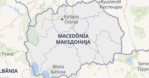 Mapa de República da Macedônia