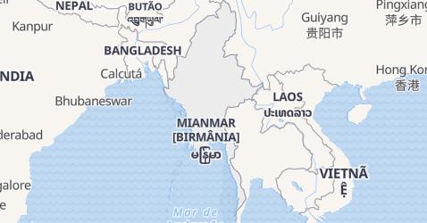 Mapa de Myanma