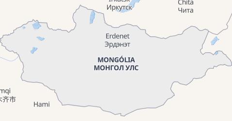 Mapa de Mongólia