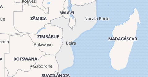 Mapa de Moçambique