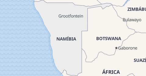 Mapa de Namíbia