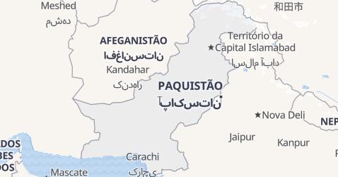 Mapa de Paquistão