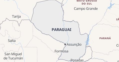 Mapa de Paraguai