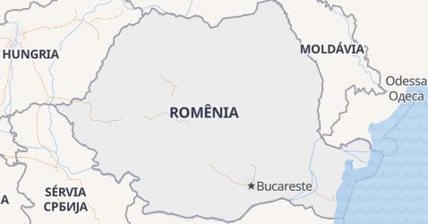 Mapa de Romênia