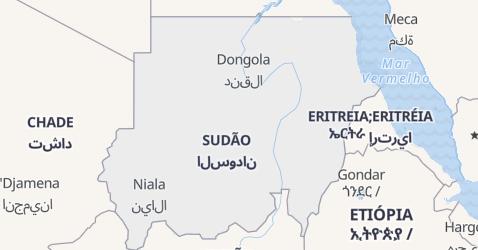 Mapa de Sudão