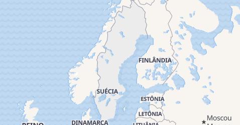 Mapa de Suécia