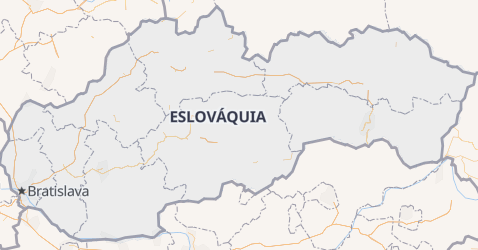 Mapa de Eslováquia